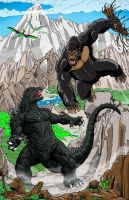 King Kong vs Godzilla by kaijuverse
