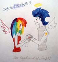 An angel and his devil (HUMAN SoarinDash) by iLOVEthisRAINBOWS