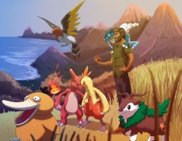 Pokemon X starting team by Odysseus-UP