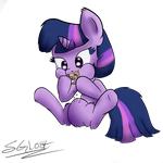 Twilight Eating a Pretzel by schizophrenicGhost