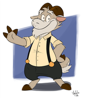 Goat in suspenders by valdo-wolf