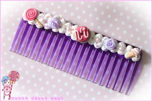sweet donut comb by CandyStripedCafe