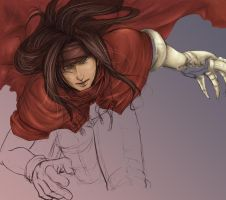 Vincent Valentine WIP by Tharshinaa