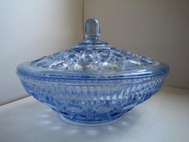blue glass bowl stock 1 by Stock-Tenchigirl15