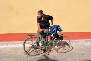 Man And Bicycle by Talkingdrum