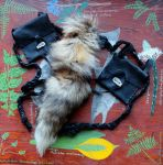 Red Fox Tail Belt Pouch Set by lupagreenwolf