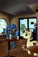 At Starbucks by ValkyrieSkies