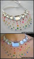 Rainbow Speckle Necklace by Natalie526