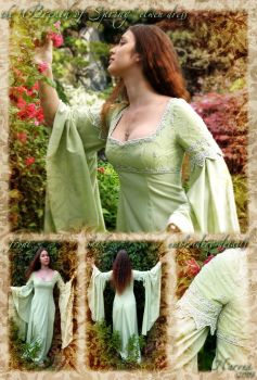 'Breath of Spring' elven dress by lady-narven