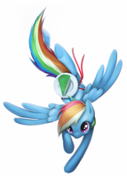 Rainbow Dash + cake by Google-Moogle