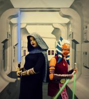 Barriss and Ahsoka by Sunravenn