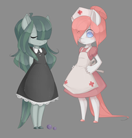 Marble and Redheart by MantaTheMisukitty
