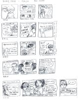 hourly comics :D page one by kitsuneii