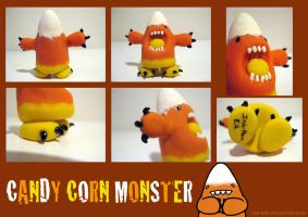 Candy Corn Monster by Ink--It