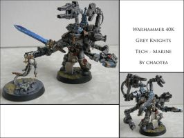 Grey knight Tech-Marine with Servo Harness by chaotea