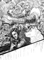 GOT illustration, John Snow remembers his father by CAGutierrez