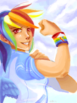 Rainbow Dash by phoenixflorid