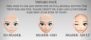 MMD- YMNako Face by luckygirl88
