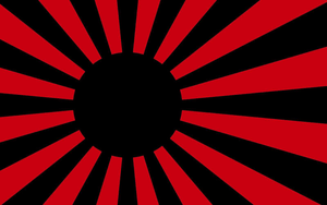 Black Rising Sun Flag by teslapunk