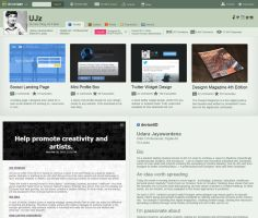 DeviantART Redesign - A Feature Bar by UJz