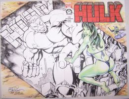 Hulk 100 Cover Hero Initiative by DaneRot