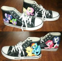 MLP FiM shoes by GizmoTheGreen