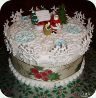Christmas Cake 2007 by spiderdijon
