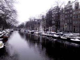Amsterdam in this winter by Heckenshutze
