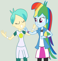 Rainbow Dash and Racketball - BFF's by Appimena