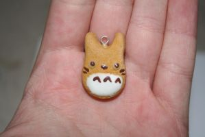 Totoro Cookie - Polymer Clay Charm by PiinkKittyy