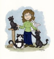 crazy cat lady by beckadoodles