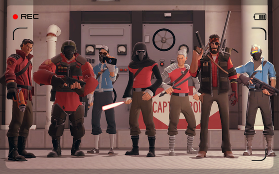 main characters line up by AgentVigilante