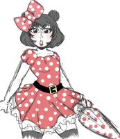.:Human Minnie Mouse:. by Dawnrie