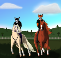 Cantering on a Sunny Day by RoxyShadowpaw