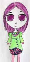 Green Coat Chibi by esmeone