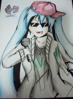 Hatsune Miku rapper (requested by SatoshiTakeo) by Vocalizer