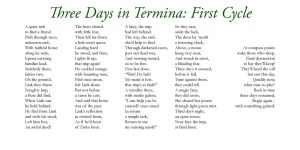 Three Days in Termina - One by Liefesa