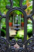 The Fountain through the Gate by Badgertastic