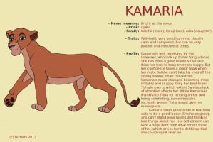 Character Sheet - KAMARIA by Nichers