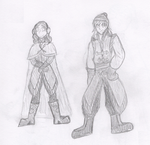 KH Sketches - Frozen Lila and Riku by snowcloud8