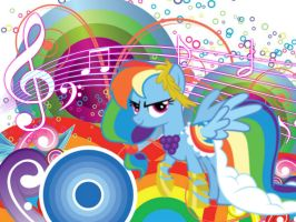 Rainbow Dash (Gala dress ) Wallpaper by funyan-lineart