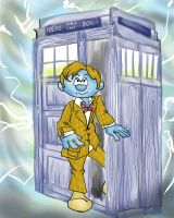 Doctor Who Smurf by originalceenote