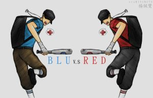 __TF2: BLU Scout vs RED Scout__ by xCheckmate