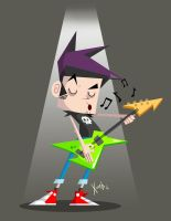 Rock Star guy! by xochiltana