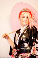 Umbrella and Kimono by Leox90