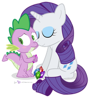 Spike and Rarity by dm29