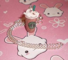 Fimo Starbucks Frap Necklace by kawaii-fimo-girl