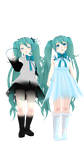 Smol Miku Model DL Ver. 1.0 by Allena-Frost-Walker