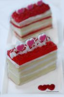 Sweetheart Vanilla Cake Slices by theresahelmer