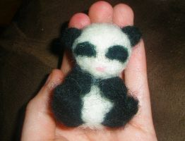 Baby Panda Felted by TheHarley